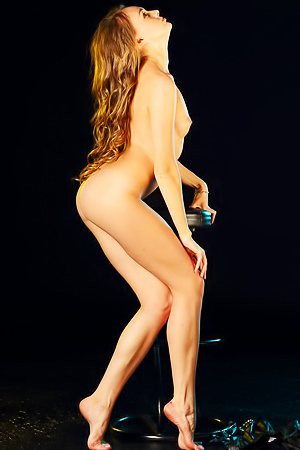 Andrea Sixth in nude photoshoot in studio