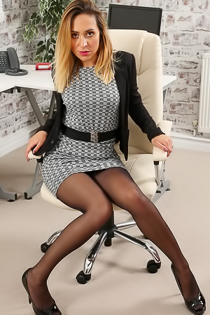 Samantha in black stockings