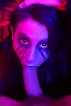 Joanna Angel Wearing A Mask And Looking Sinister