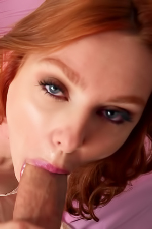 Lacy Lennon Takes Huge Cock In Her Mouth And Sucking Deep